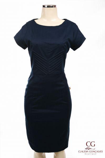 Fotos de vestido tubinho azul